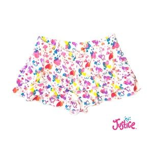 Justice Floral Ruffled Shorts Size 10